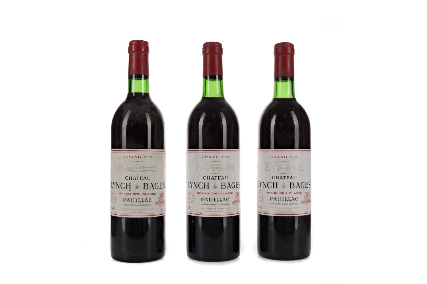 Lot 56 - THREE BOTTLES OF CHATEAU LYNCH BAGES 1983