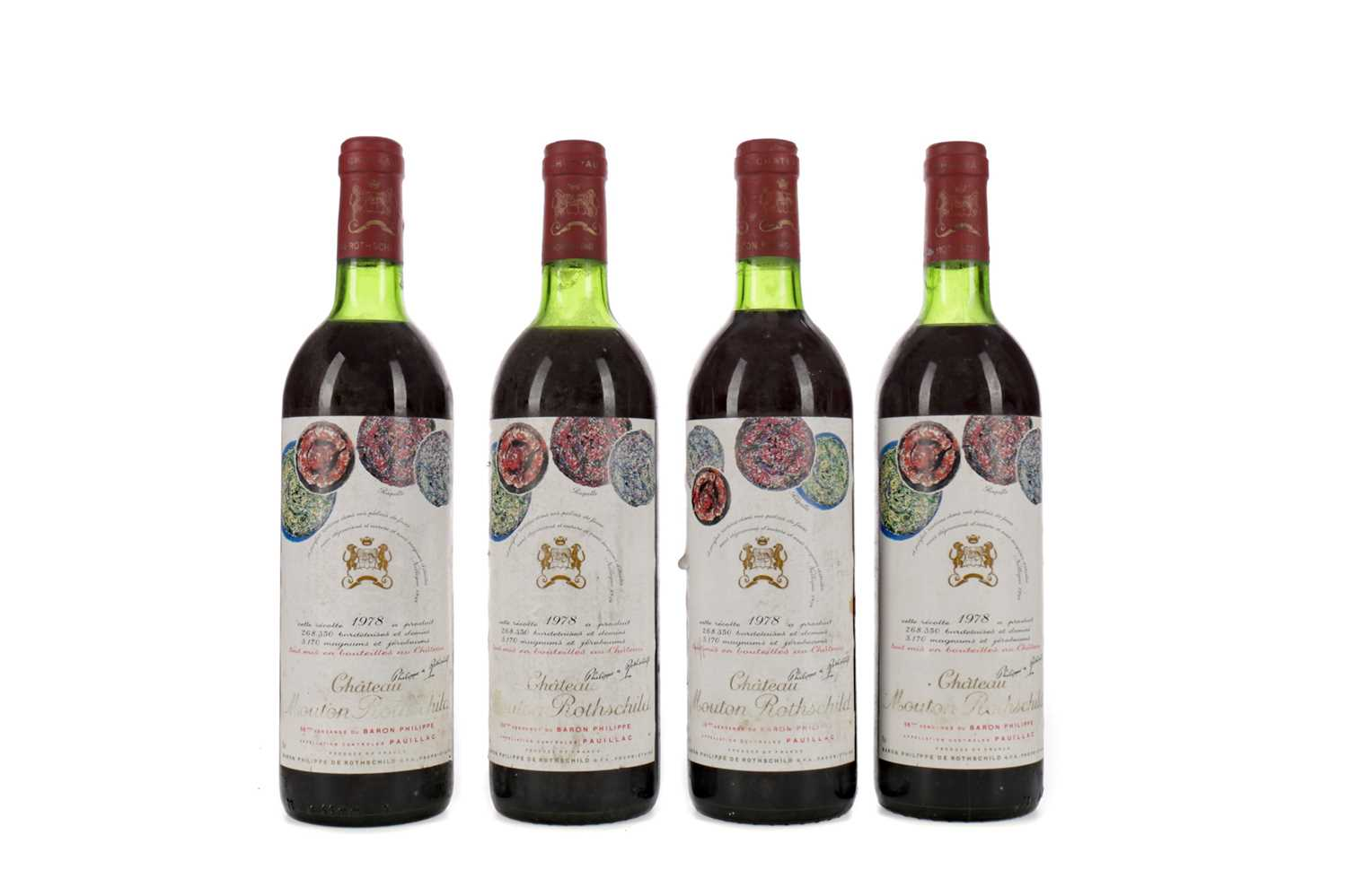 Lot 66 - FOUR BOTTLES OF CHATEAU MOUTON ROTHSCHILD 1978