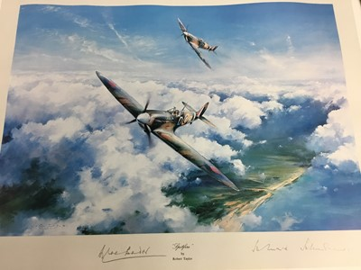 Lot 29 - A SIGNED SPITFIRE PRINT BY ROBERT TAYLOR