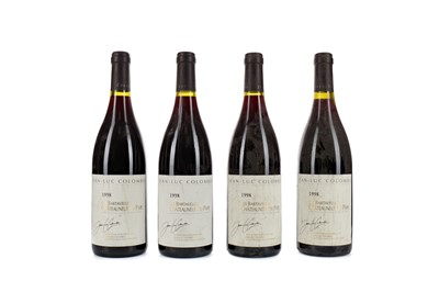 Lot 73 - FOUR BOTTLES OF JEAN-LUC COLOMBO 1998 CHATEAUNEUF DU PAPE