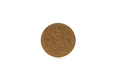 Lot 40 - A GOLD HALF SOVEREIGN DATED 1911