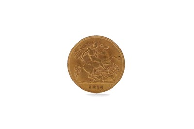 Lot 41 - A GOLD HALF SOVEREIGN DATED 1914
