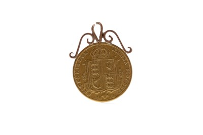 Lot 44 - A GOLD HALF SOVEREIGN DATED 1892