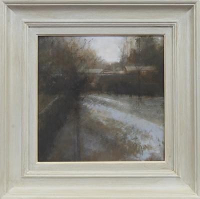 Lot 586 - MELTING SNOW, AN OIL BY JUDITH GARDNER