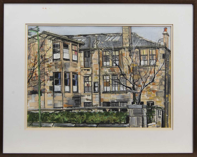 Lot 592 - THE HOUSE AT MIRLEES DRIVE, A MIXED MEDIA BY DAVID TONER