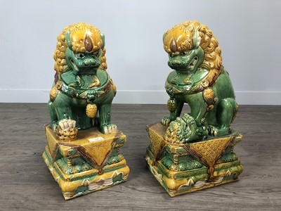Lot 731 - A PAIR OF CHINESE FOE DOGS