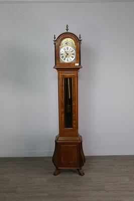 Lot 1114 - A WALNUT GRANDMOTHER CLOCK