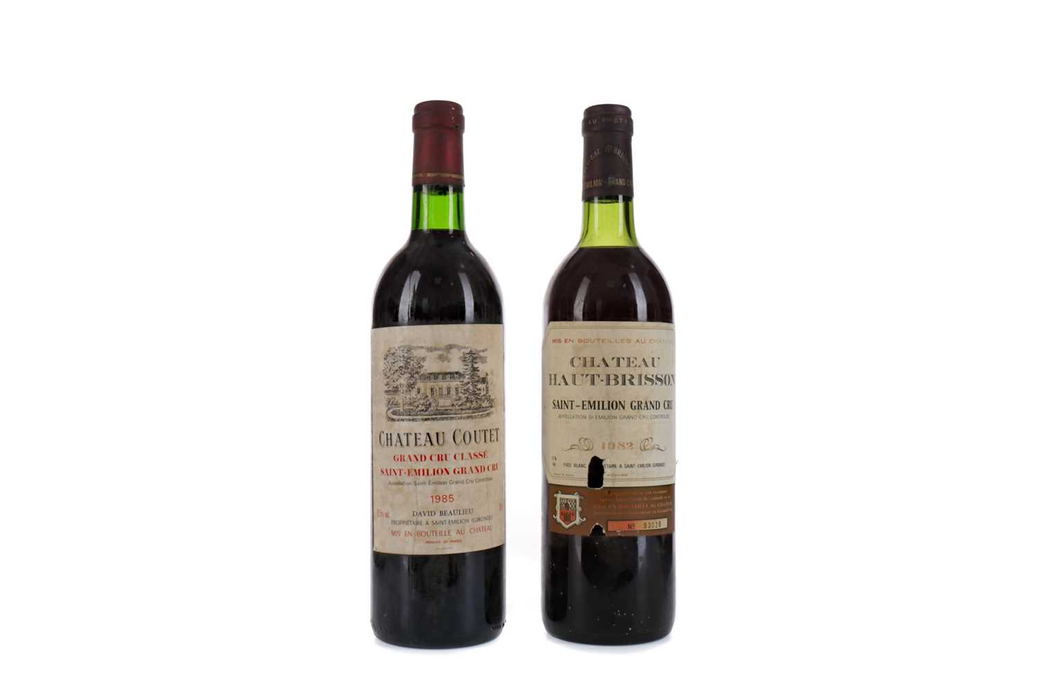 Lot 85 - CHATEAU COUTET 1985 AND CHATEAU HAUT BRISSON 1982