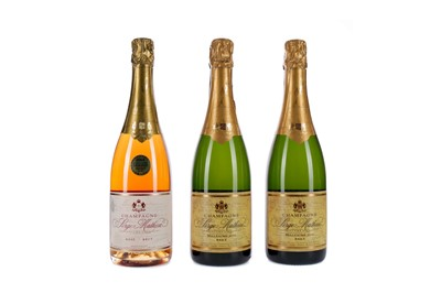 Lot 93 - TWO BOTTLES OD SERGE MATHIEU 1998 MILLESIME AND ONE ROSE