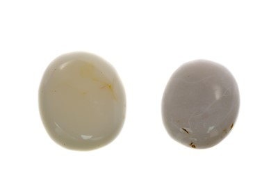Lot 355 - TWO CERTIFICATED UNMOUNTED OPALS