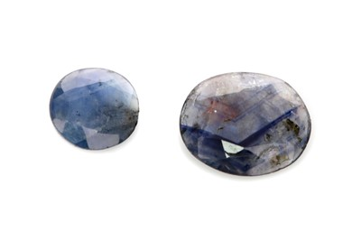 Lot 360 - TWO CERTIFICATED UNMOUNTED SAPPHIRES