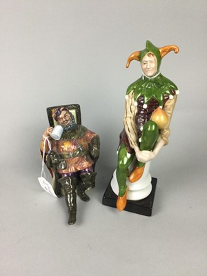 Lot 63 - A LOT OF THREE ROYAL DOULTON FIGURES AND ANOTHER