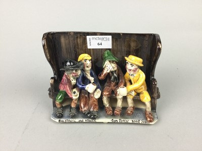 Lot 64 - A WILL YOUNG UNCLE TOM COBLEY POTTERY GROUP