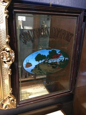 Lot 55 - A SOUTHERN COMFORT ADVERTISING MIRROR