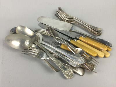 Lot 54 - A LOT OF SILVER PLATED FLATWARE