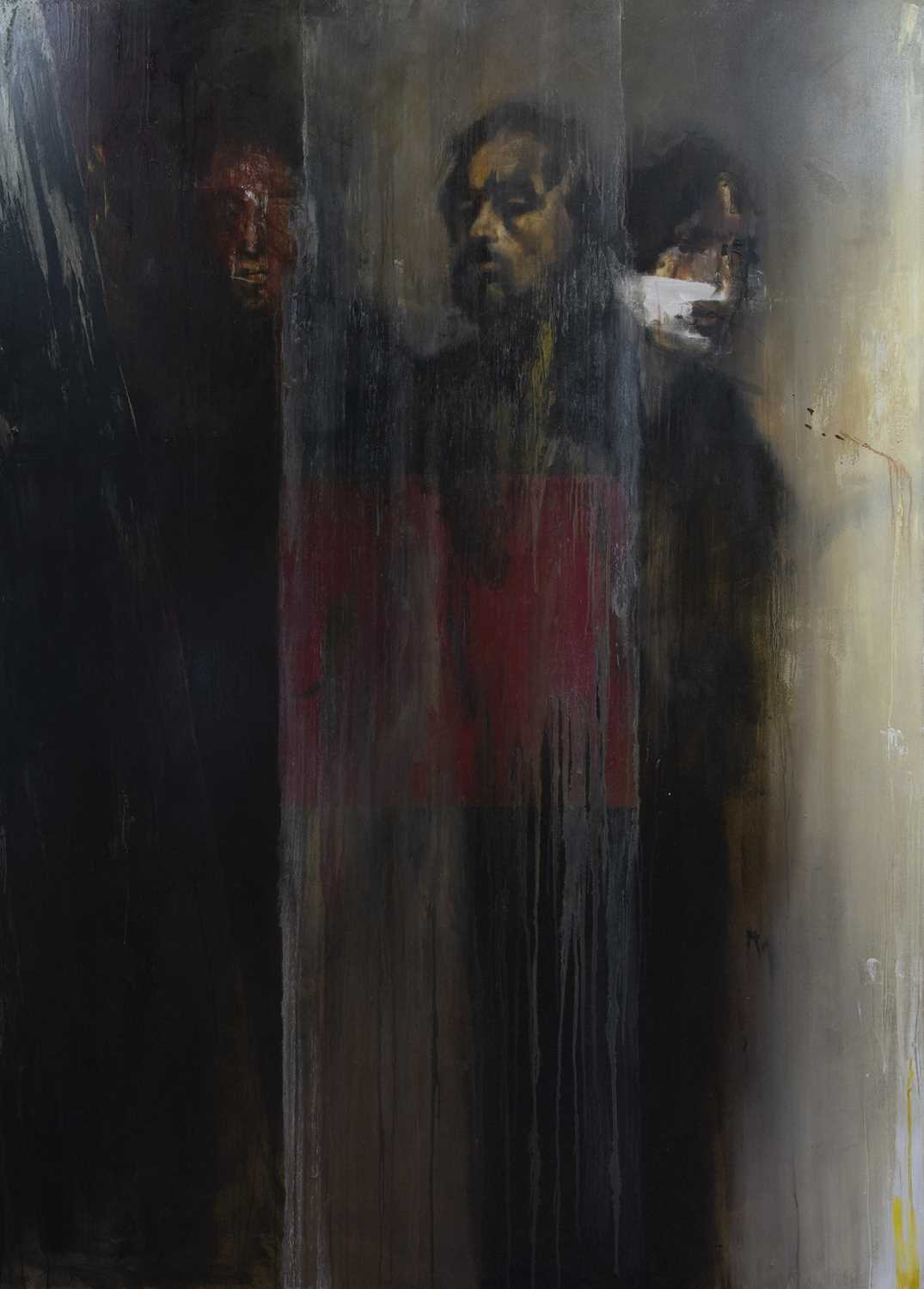 Lot 607 - A LARGE UNTITLED OIL BY PHILIP GURREY