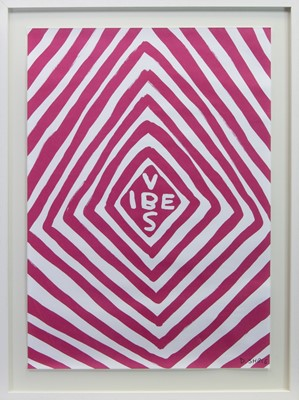 Lot 617 - VIBES, A LITHOGRAPHY BY DAVID SHRIGLEY