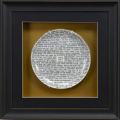 Lot 620 - 100% ART PLATE 2020, BY GRAYSON PERRY