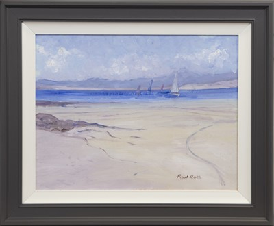 Lot 625 - SAILING OFF MULL, AN OIL BY PAUL ROTH