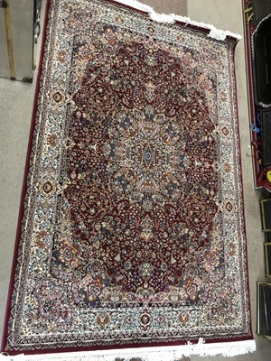 Lot 91 - A PERSIAN STYLE RUG