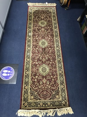 Lot 100 - A PERSIAN STYLE RUG