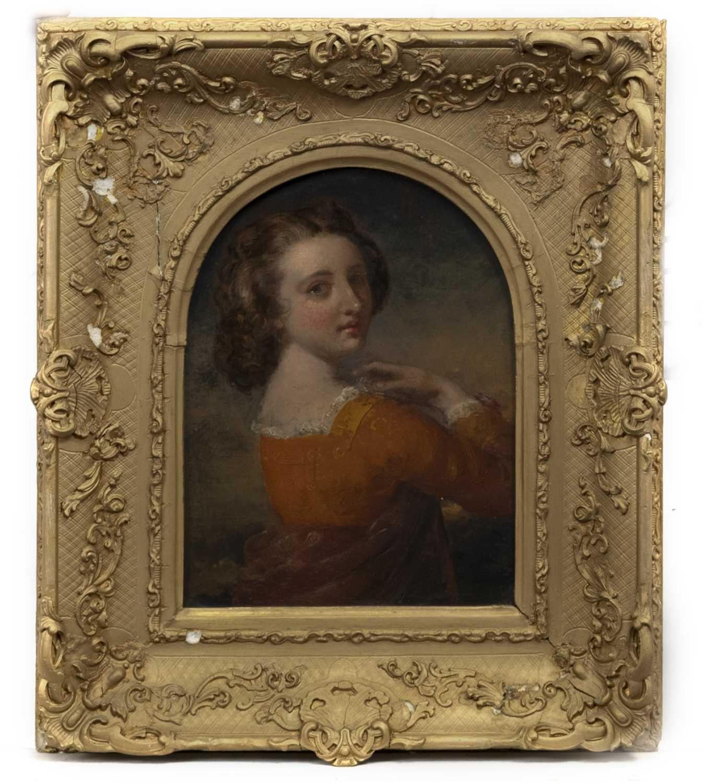 Lot 77 - PORTRAIT OF A LADY, AN OIL BY JOHN EATON WALKER