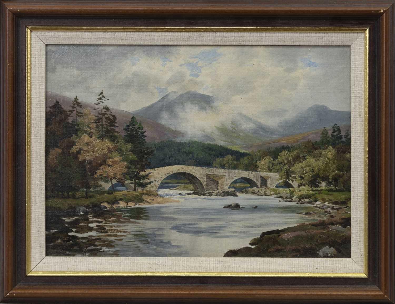 Lot 79 - SLIGACHAN OLD BRIDGE, AN OIL BY GEORGE MELVIN RENNIE