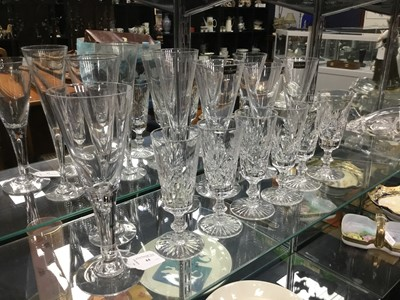Lot 44 - A LOT OF CRYSTAL GLASSES
