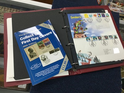 Lot 46 - A LOT OF FOUR ALBUMS OF FIRST DAY COVERS AND TWO REFERENCE BOOKS