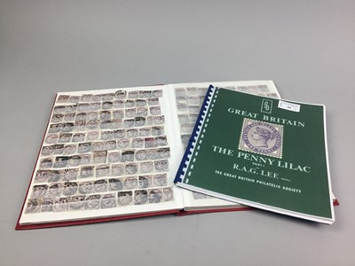 Lot 42 - AN ALBUM OF PENNY LILACS AND A REFERENCE BOOK