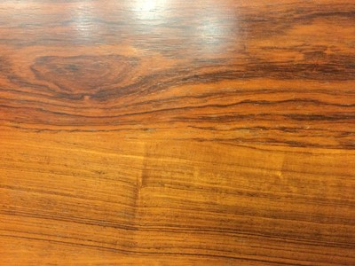 Lot 1320 - A MODERNIST ROSEWOOD AND CHROME COFFEE TABLE