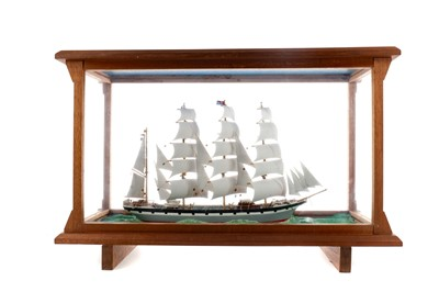 Lot 1321 - A MID TO LATE 20TH CENTURY MODEL OF A SHIP