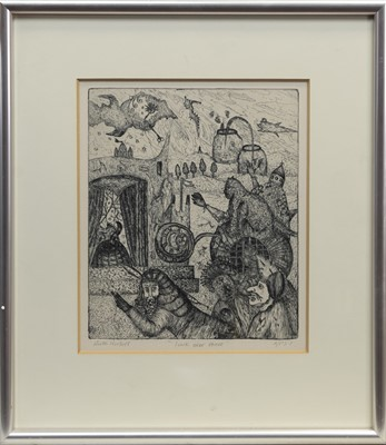 Lot 86 - LOOK OVER THERE, AN ETCHING BY RUTH CORBETT