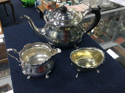 Lot 11 - A LOT OF SILVER PLATED WARE