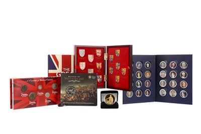 Lot 59 - A COLLECTION OF FIRST DAY COIN COVERS, DECIMAL SETS AND OTHER COINS
