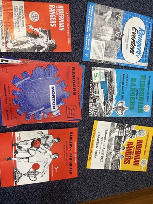 Lot 1821 - A COLLECTION OF RANGERS PROGRAMMES