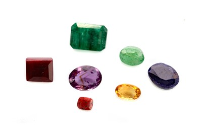 Lot 407 - A COLLECTION OF CERTIFICATED UNMOUNTED GEMS