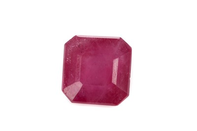 Lot 420 - A CERTIFICATED GLASS FILLED UNMOUNTED RUBY