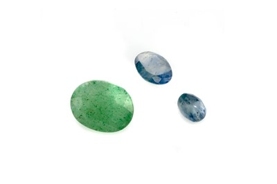 Lot 433 - THREE CERTIFICATED UNMOUNTED GEMS