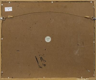 Lot 91 - DUNVEGAN CASTLE, A WATERCOLOUR BY ALEXANDER (ALEX) LECKIE