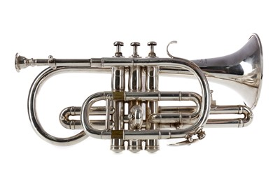 Lot 1119 - A CASED CORNET BY HAWKES & SON