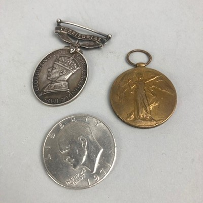Lot 26 - A GEORGE VI FOR EFFICIENT SERVICE MEDAL AND TWO OTHERS