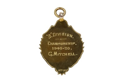 Lot 1701 - GEORGE MITCHELL OF GREENOCK MORTON F.C. - HIS B DIVISION WINNERS GOLD MEDAL 1950