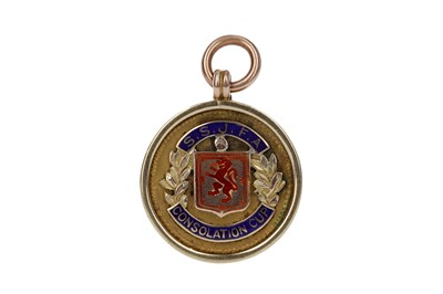 Lot 1702 - GEORGE MITCHELL - HIS GREENOCK BLUEBELL FOOTBALL CLUB GOLD MEDAL 1938