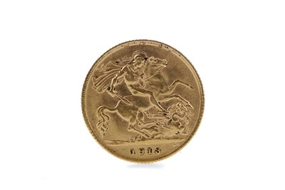 Lot 6 - A GEORGE V GOLD HALF SOVEREIGN DATED 1913