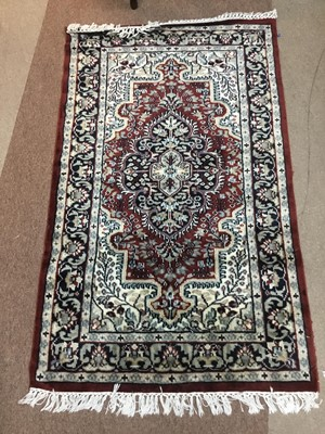 Lot 91 - A LOT OF THREE VARIOUS RUGS