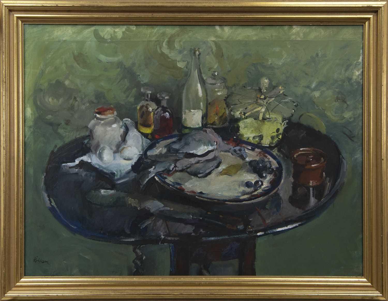 Lot 501 - STILL LIFE, AN OIL BY NORMAN KIRKHAM