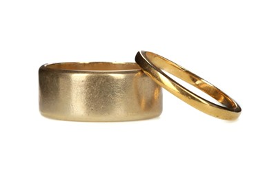 Lot 809 - TWO GOLD WEDDING BANDS