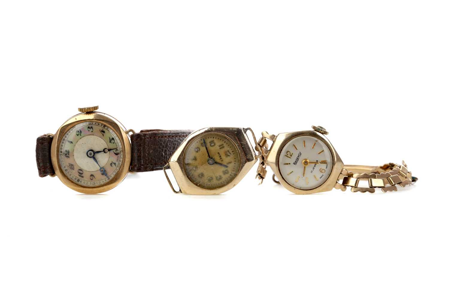Lot 701 - THREE LADY'S GOLD CASED WATCHES