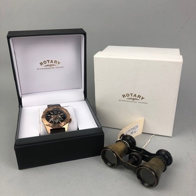 Lot 32 - A GENTLEMAN'S ROTARY WRISTWATCH AND OTHER ITEMS